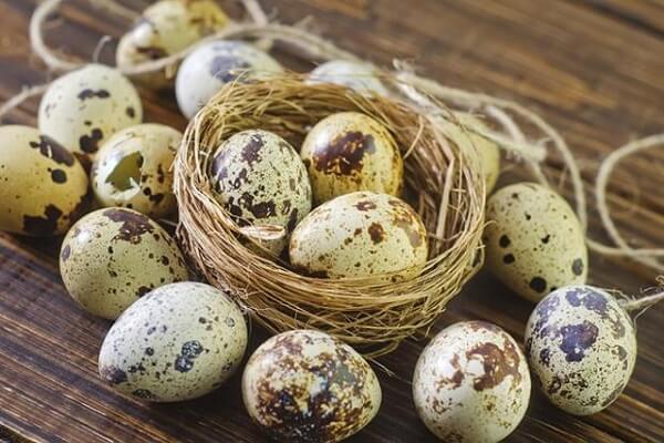 Trứng cút : 8 quả