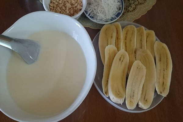Thơm ngon béo ngậy cùng cách làm kem chuối dừa