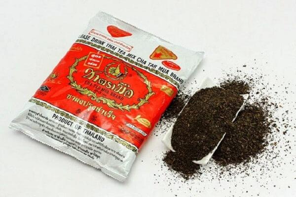 Trà Thái đỏ dạng túi lọc hoặc trà khô thường