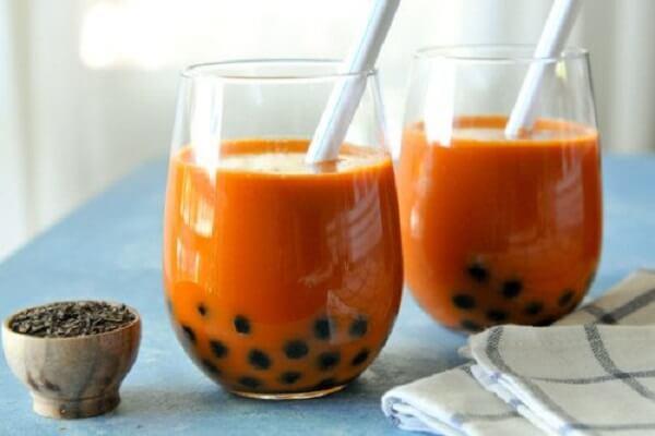 Cách làm trà sữa trâu châu thái đỏ bằng trà túi lọc hoặc trà khô