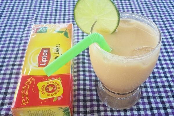 Trổ tài tại nhà với cách làm trà lipton sữa