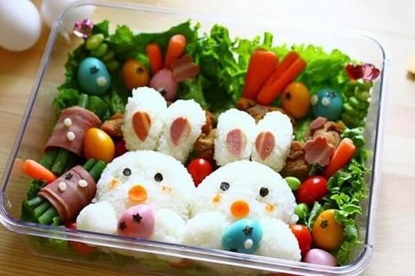 Cơm hộp Bento là gì, Cách làm cơm hộp Bento Nhật Bản, cơm hộp tình yêu với 60+ mẫu cơm đẹp đơn giản 9