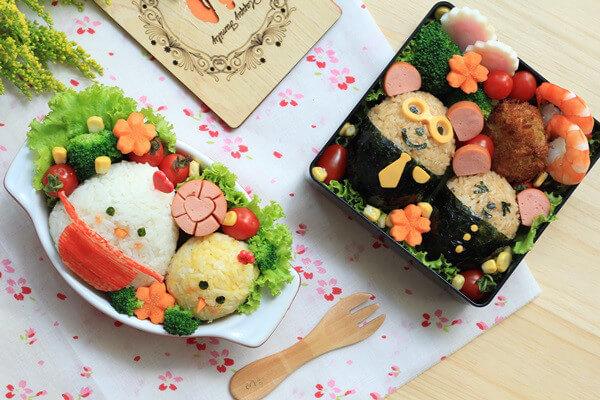 Cơm hộp Bento là gì, Cách làm cơm hộp Bento Nhật Bản, cơm hộp tình yêu với 60+ mẫu cơm đẹp đơn giản 10