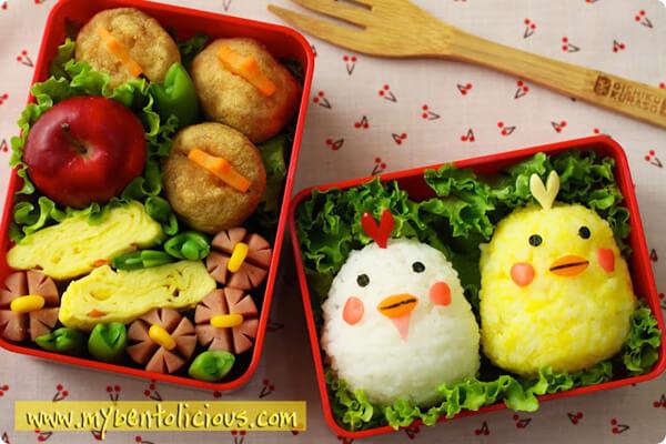 Cơm hộp Bento là gì, Cách làm cơm hộp Bento Nhật Bản, cơm hộp tình yêu với 60+ mẫu cơm đẹp đơn giản 17