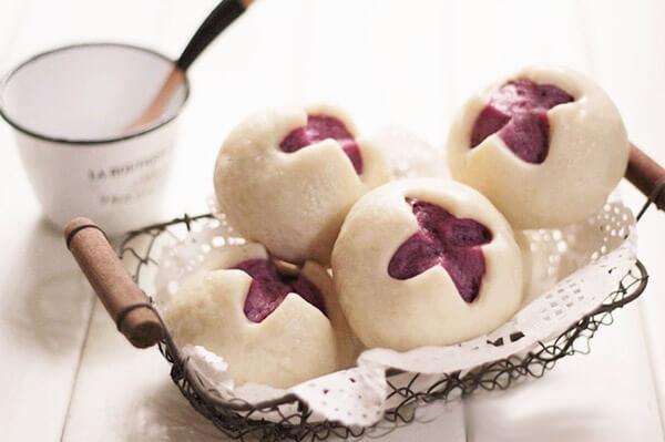 Cách làm bánh bao khoai lang tím