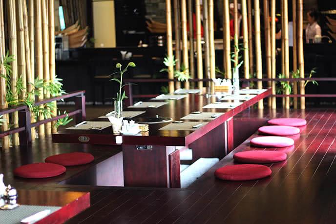 Không gian nhà hàng đậm chất văn hóa Nhật Bản