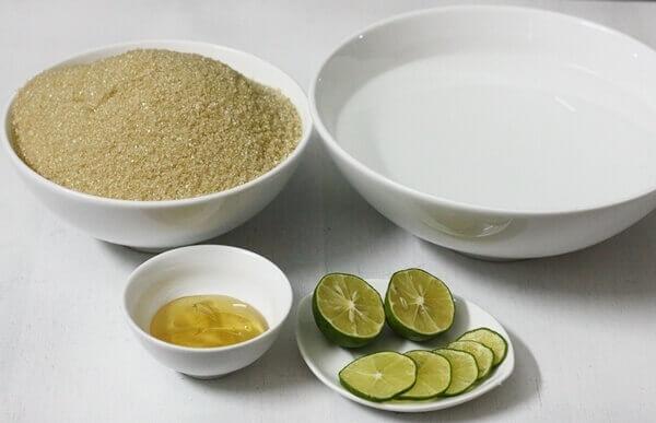 Làm nước đường bánh dẻo