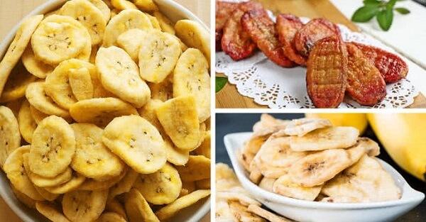 Các dạng chuối sấy bạn có thể làm ở nhà - 3 cách làm chuối sấy dẻo, chuối sấy khô ngào đường bằng lò nướng hoặc lò vi sóng (không cần lò nướng)