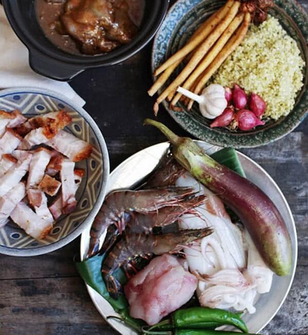 Nguyên liệu nấu bún mắm cho 6 phần ăn