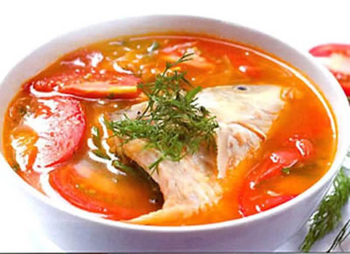 Canh chua cá điêu hồng