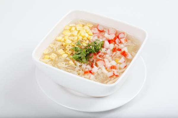 Súp tôm và ngô non - các món súp kiểu âu