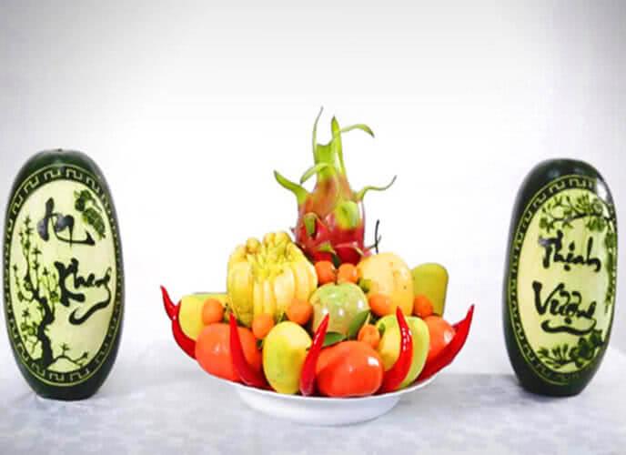 5 loại trái cây cúng ngày khai trương, ngày Tết, cách bày xếp trang trí mâm ngũ quả đẹp cúng tổ tiên ông bà, cúng khai trương gồm những gì? 7