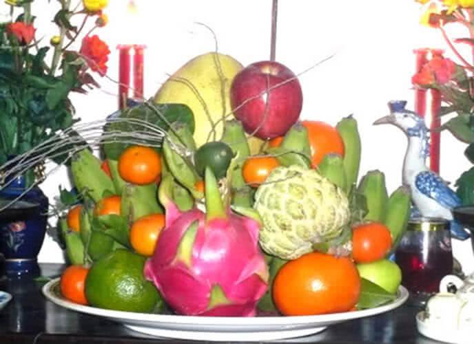 5 loại trái cây cúng ngày khai trương, ngày Tết, cách bày xếp trang trí mâm ngũ quả đẹp cúng tổ tiên ông bà, cúng khai trương gồm những gì? 9