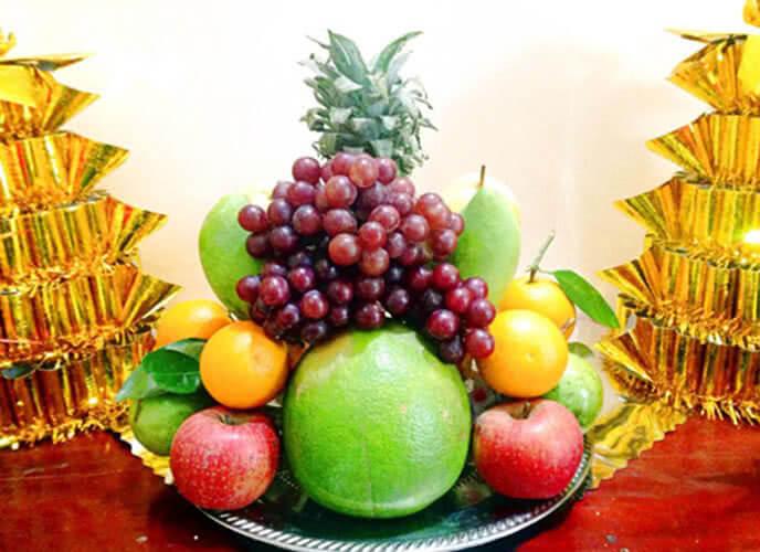 5 loại trái cây cúng ngày khai trương, ngày Tết, cách bày xếp trang trí mâm ngũ quả đẹp cúng tổ tiên ông bà, cúng khai trương gồm những gì? 3