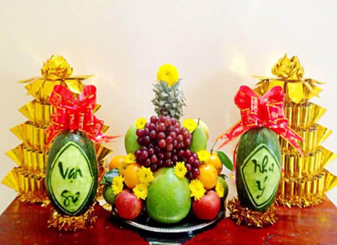 5 loại trái cây cúng ngày khai trương, ngày Tết, cách bày xếp trang trí mâm ngũ quả đẹp cúng tổ tiên ông bà, cúng khai trương gồm những gì? 4