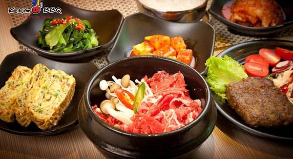 Những món ăn hấp dẫn tại nhà hàng ngon Hàn Quốc King BBQ