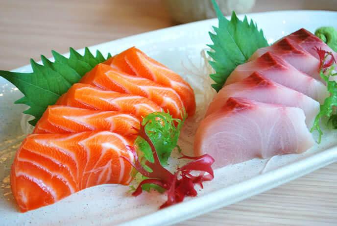 Sasimi cá hồi hấp dẫn