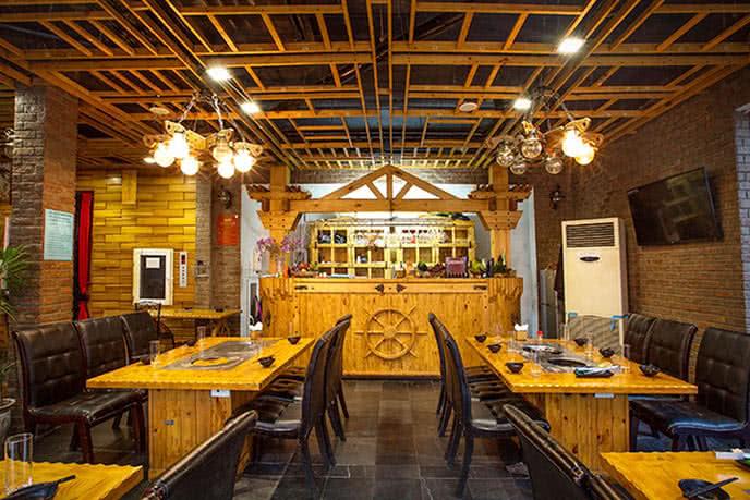 Không gian cổ điển kiểu Âu tại nhà hàng
