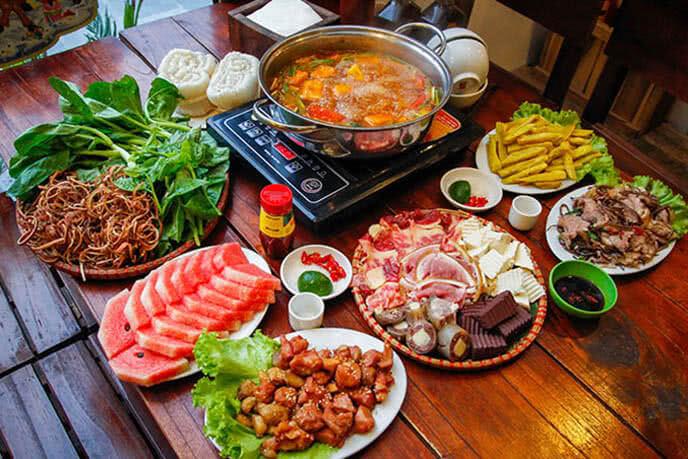 Món lẩu bò tơ nổi tiếng ở Bò Tơ Quán Mộc