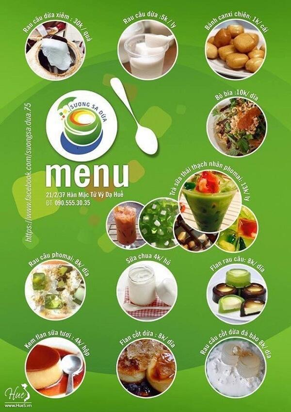 Ở đây có đa dạng các món chủ yếu chế biến từ dừa