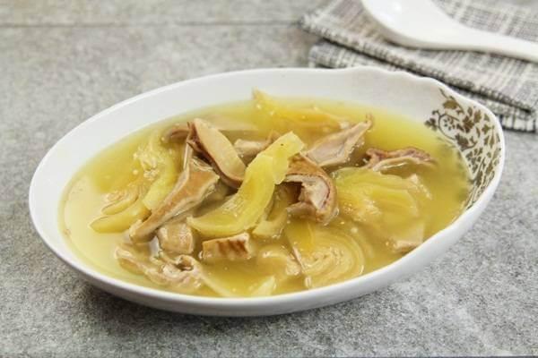 Bao tử thấm vị chua của cải sẽ có vị rất đậm đà và thơm ngon.