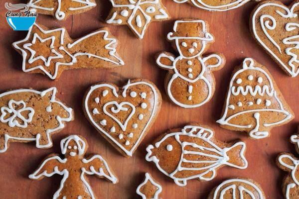 Cách Làm Bánh Quy Gừng Bằng Lò Vi Sóng - Làm Bánh Quy Noel