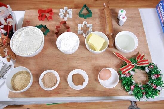 Nguyên liệu làm món bánh quy gừng