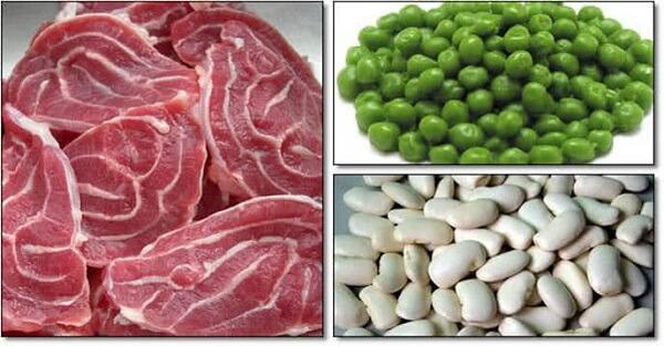 Nguyên liệu làm món bò nấu đậu Hà Lan