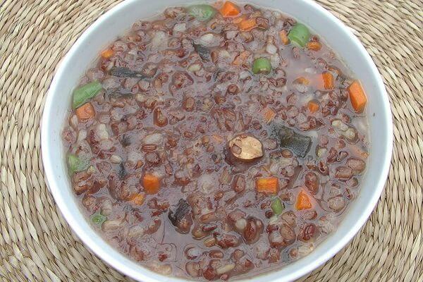 2 cách nấu cháo gạo lứt đậu đỏ cho người giảm cân nhanh mềm nhừ đơn giản ngay tại nhà