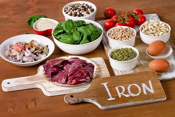 Những loại thực phẩm có nhiều chất sắt?