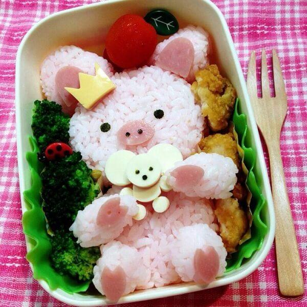 Cơm hộp Bento là gì, Cách làm cơm hộp Bento Nhật Bản, cơm hộp tình yêu với 60+ mẫu cơm đẹp đơn giản 31