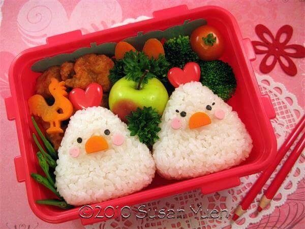 Cơm hộp Bento là gì, Cách làm cơm hộp Bento Nhật Bản, cơm hộp tình yêu với 60+ mẫu cơm đẹp đơn giản 36