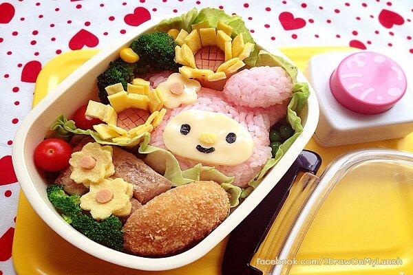Cơm hộp Bento là gì, Cách làm cơm hộp Bento Nhật Bản, cơm hộp tình yêu với 60+ mẫu cơm đẹp đơn giản 38