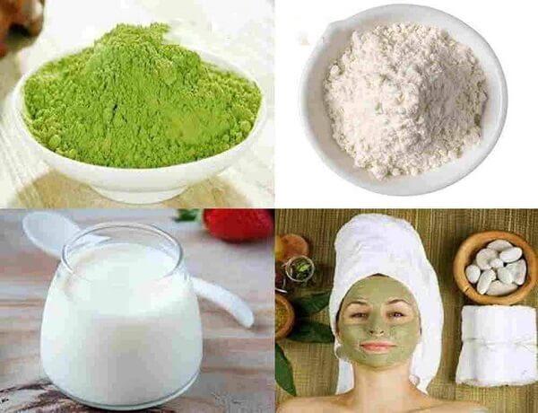 Mặt nạ bột gạo và sữa chua không đường
