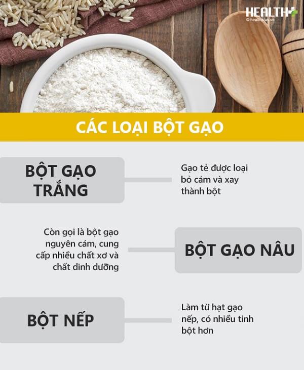 Chỉ có 3 loại bột gạo cơ bản