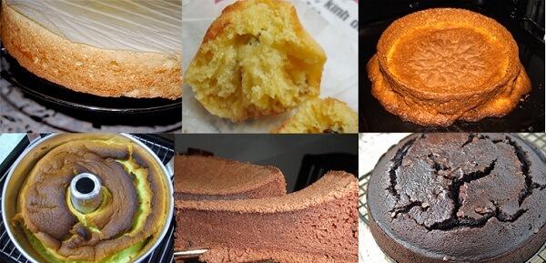 Những lỗi cơ bản trong làm bánh bông lan