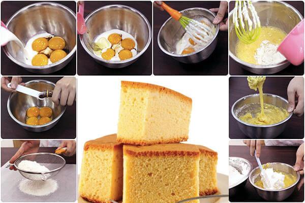 Cách nướng bánh bông lan siêu tốc bằng lò vi sóng