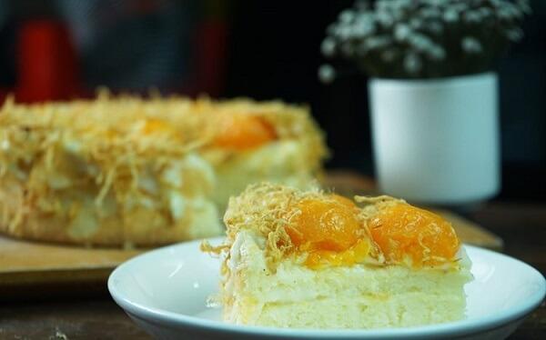 2 cách làm bánh bông lan trứng muối chà bông bằng nồi cơm điện đơn giản tại nhà