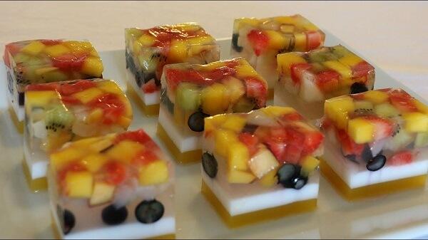 Thạch rau câu nhân hoa quả