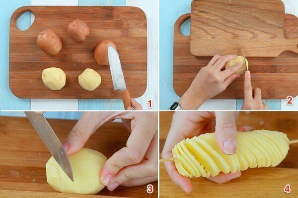 Tạo hình lốc xoáy cho khoai tây