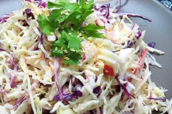 Cách làm món Salad bắp cải giảm cân kiểu Nhật