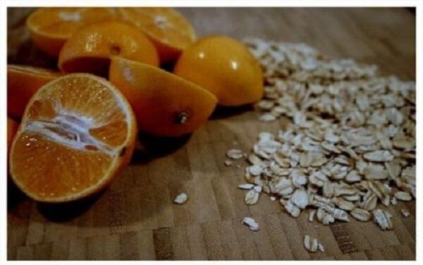 Quất, mật ong và bột yến mạch