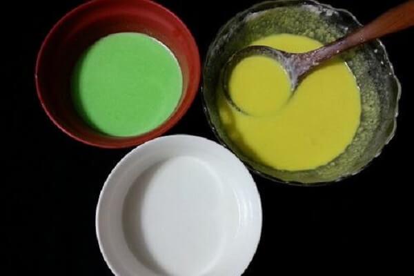 3 cách làm bánh da lợn nước cốt dừa, bánh da lợn lá dứa bằng bột năng, bột gạo pha sẵn 1