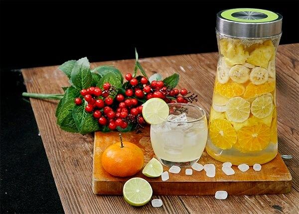 Hoàn thành hũ rượu trái cây từ cam, chanh, chuối và quýt - Cách ngâm rượu trái cây tổng hợp tại nhà từ 5 loại hoa quả uống tốt cho sức khỏe
