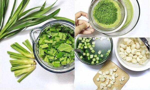 Cách làm thạch củ năng lá dứa bằng bột năng uống kèm trà sữa ăn ngon giòn chỉ 6 bước đơn giản 1