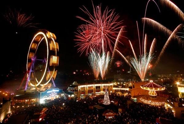 Pháo hoa mừng năm mới ở Áo