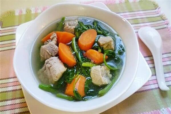Canh cải xoong nấu sườn - Các món canh bổ dưỡng của người Hoa phục hồi bồi bổ sức khỏe
