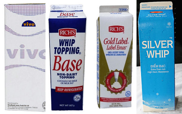 Topping cream có giá tương đối thấp và hợp lý.