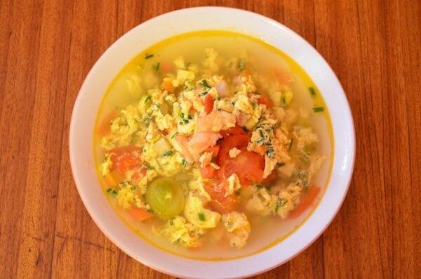 Trứng chưng cà chua (6k)