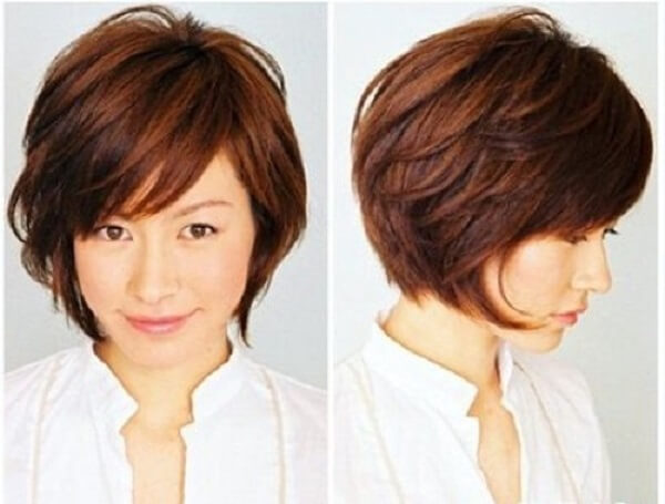 Kiểu tóc tém gọn phần ngọn